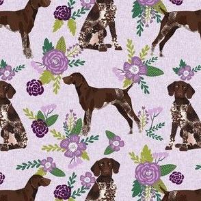 german shorthair pointer pet quilt  c coordinate floral