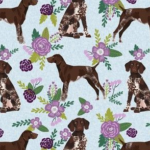 german shorthair pointer pet quilt  c coordinate floral