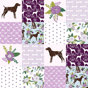 german shorthair pointer pet quilt  c cheater wholecloth