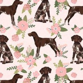 german shorthair pointer pet quilt  d coordinate floral