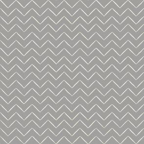 Babouche Cloud Grey Chevron Stripe