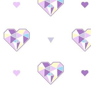 Geo Triangle Heart Repeat Purple Multi