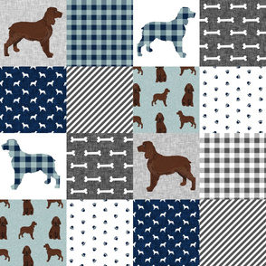 field spaniel pet quilt b dog breed fabric wholecloth