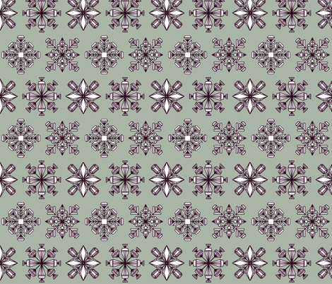 Gemstone snowflakes fabric by new_branch_studio on Spoonflower - custom fabric