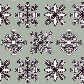 Gemstone snowflakes