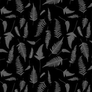 "4"" Botanical Leaves Mix & Match - Black and Grey"