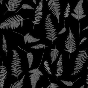 "8"" Botanical Leaves Mix & Match - Black and Grey"
