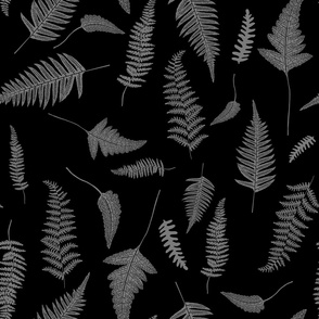 "21"" Botanical Leaves Mix & Match - Black and Grey"