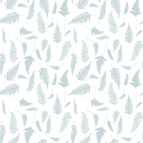 "4"" Botanical Leaves Mix & Match - Bluish Grey fabric by shopcabin on Spoonflower - custom fabric"