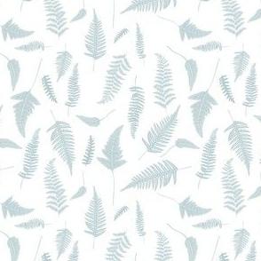 """4"""" Botanical Leaves Mix & Match - Bluish Grey"""