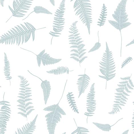 "8"" Botanical Leaves Mix & Match - Bluish Grey fabric by shopcabin on Spoonflower - custom fabric"