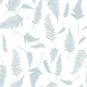 """8"""" Botanical Leaves Mix & Match - Bluish Grey"""