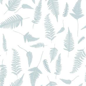 """21"""" Botanical Leaves Mix & Match - Bluish Grey"""