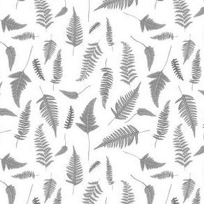 "4"" Botanical Leaves Mix & Match - Grey"