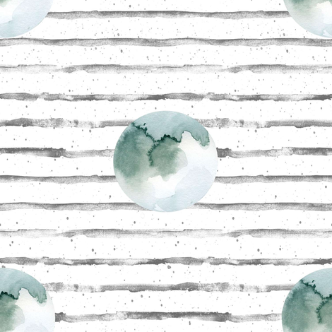 """8"""" Moon with Stripes fabric by shopcabin on Spoonflower - custom fabric"""