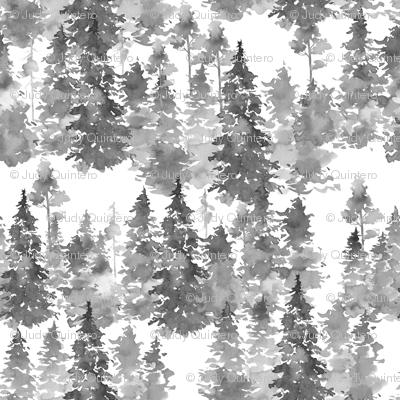 "4"" Woodland Trees - Grey"