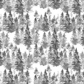 "4"" Woodland Trees - Grey"