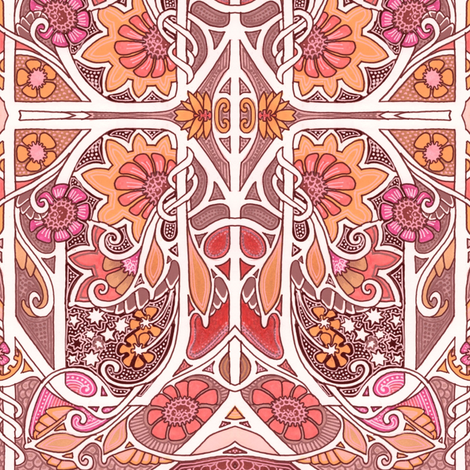 Orange Garden with a Twist fabric by edsel2084 on Spoonflower - custom fabric