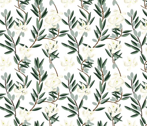 OLIVE BLOOM fabric by holli_zollinger on Spoonflower - custom fabric