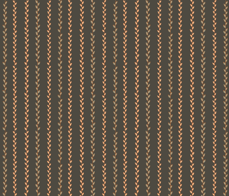 Pinstripe Branches fabric by dualsunsdesign on Spoonflower - custom fabric