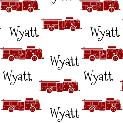 FIRE TRUCKS RED-Wyatt fabric by stephanieglass on Spoonflower - custom fabric