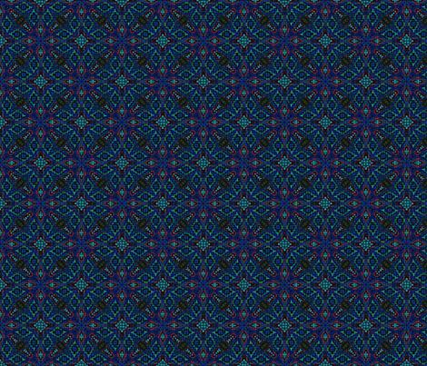 Mosaic Gem Blue fabric by fabricadabra_creations on Spoonflower - custom fabric