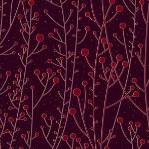 Diamond Dust Red Winterberries Silhouette