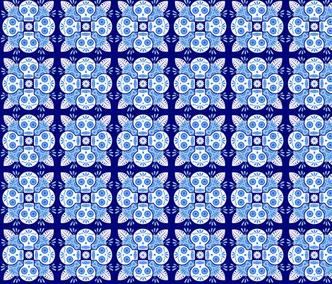 Calavera Talavera fabric by avphibes on Spoonflower - custom fabric