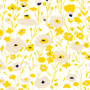 wildflowers - yellow & blue