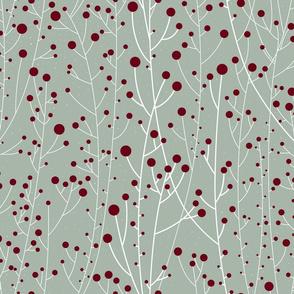 Diamond Dust White Winterberries maroon mix