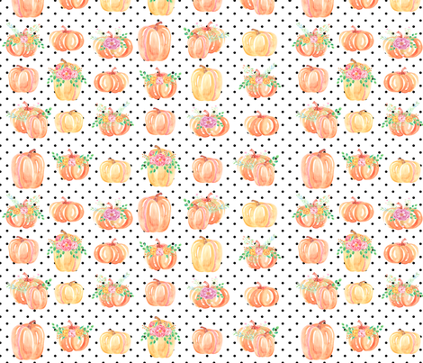 Pumpkin Party small fabric by brookiesdesigns on Spoonflower - custom fabric