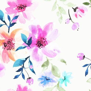 floral chat on white