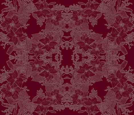 Winter Lace Brocade fabric by mypetalpress on Spoonflower - custom fabric