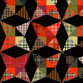 Plaid Kaleidoscope Stars Cheater with Black