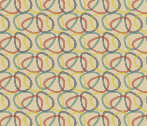 Atomic Century Egg - Beige Multicolor fabric by siya on Spoonflower - custom fabric