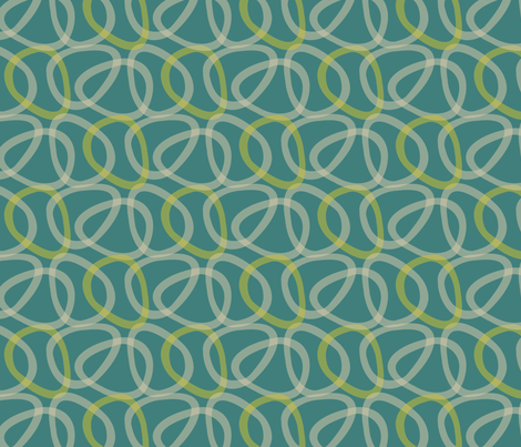 Atomic Century Egg - Neptune fabric by siya on Spoonflower - custom fabric