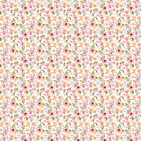 """1.5"""" Etheral Blooms - Darker Florals fabric by shopcabin on Spoonflower - custom fabric"""