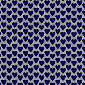 Thin Blue Line Heart Sash Small Scale