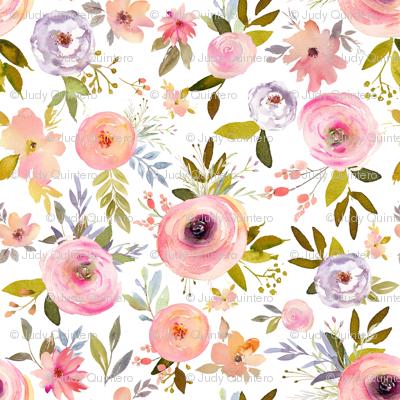 """18"""" Etheral Blooms - Darker Florals"""