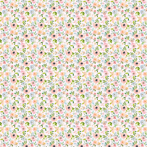 "1.5"" Etheral Blooms - Blush fabric by shopcabin on Spoonflower - custom fabric"