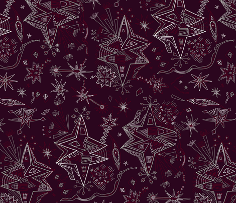 starry elegance fabric by lalalamonique on Spoonflower - custom fabric