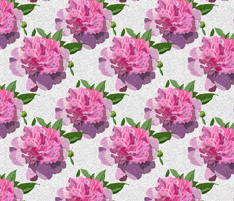 sponge peony fabric by leroyj on Spoonflower - custom fabric