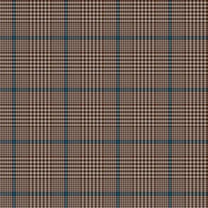 "Prince of Wales check #2, 2"" brown/blue/taupe"