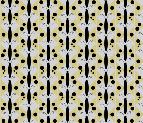 Golden Moth fabric by kae50 on Spoonflower - custom fabric