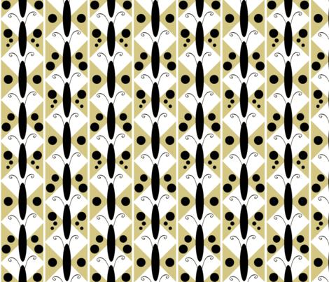 Golden Moth-white fabric by kae50 on Spoonflower - custom fabric