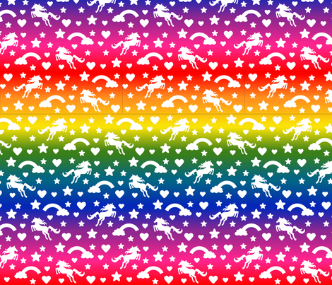 Chasing Rainbows fabric by designedbygeeks on Spoonflower - custom fabric