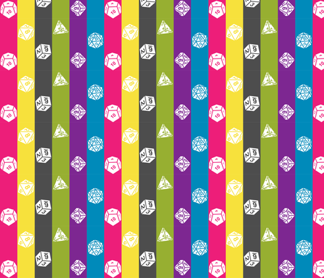 Critical Hit Chaotic Evil fabric by designedbygeeks on Spoonflower - custom fabric