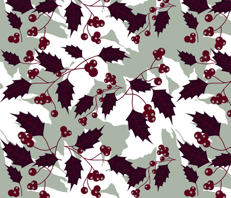 Jingle Holly fabric by brainsarepretty on Spoonflower - custom fabric