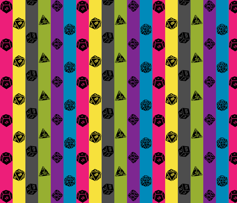 Critical Hit Chaotic Good fabric by designedbygeeks on Spoonflower - custom fabric