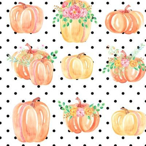 pumpkin party dots large
